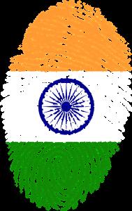 India Flag thumb print
