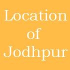 Location of Jodhpur