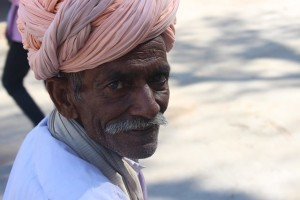 old Man with turban jodhpur